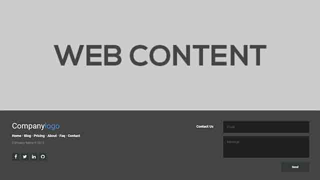 footer responsive snippet