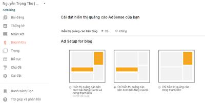 Bật kiếm tiền trên Blogger: Google Adsense