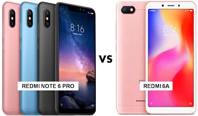 Xiaomi Redmi Note 6 Pro Dan Xiaomi Redmi 6A