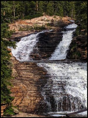 Upper Provo River Falls Uintas Utah