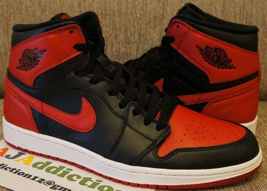 save off f7b8e 897f6 One more original colorway of the Air Jordan I will be hitting stores just  before the bell rings in 2014. This original black, varsity red and white  pair is ...