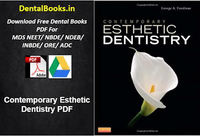 Contemporary Esthetic Dentistry PDF DOWNLOAD