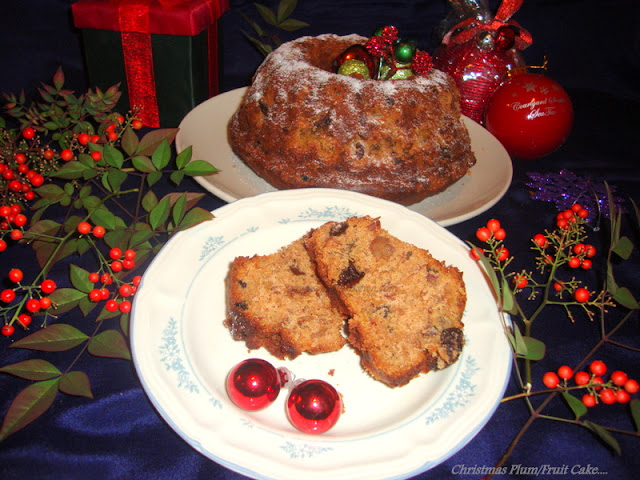 images of Christmas Plum Cake Recipe / Fruit N Nut Cake Recipe / Christmas Fruit Cake Recipe