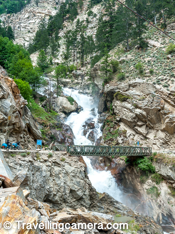 Pangi Nala - What's so special about this high pressure water stream cutting through the road to meet Setluj river in Kinnaur region of Himachal Pradesh?