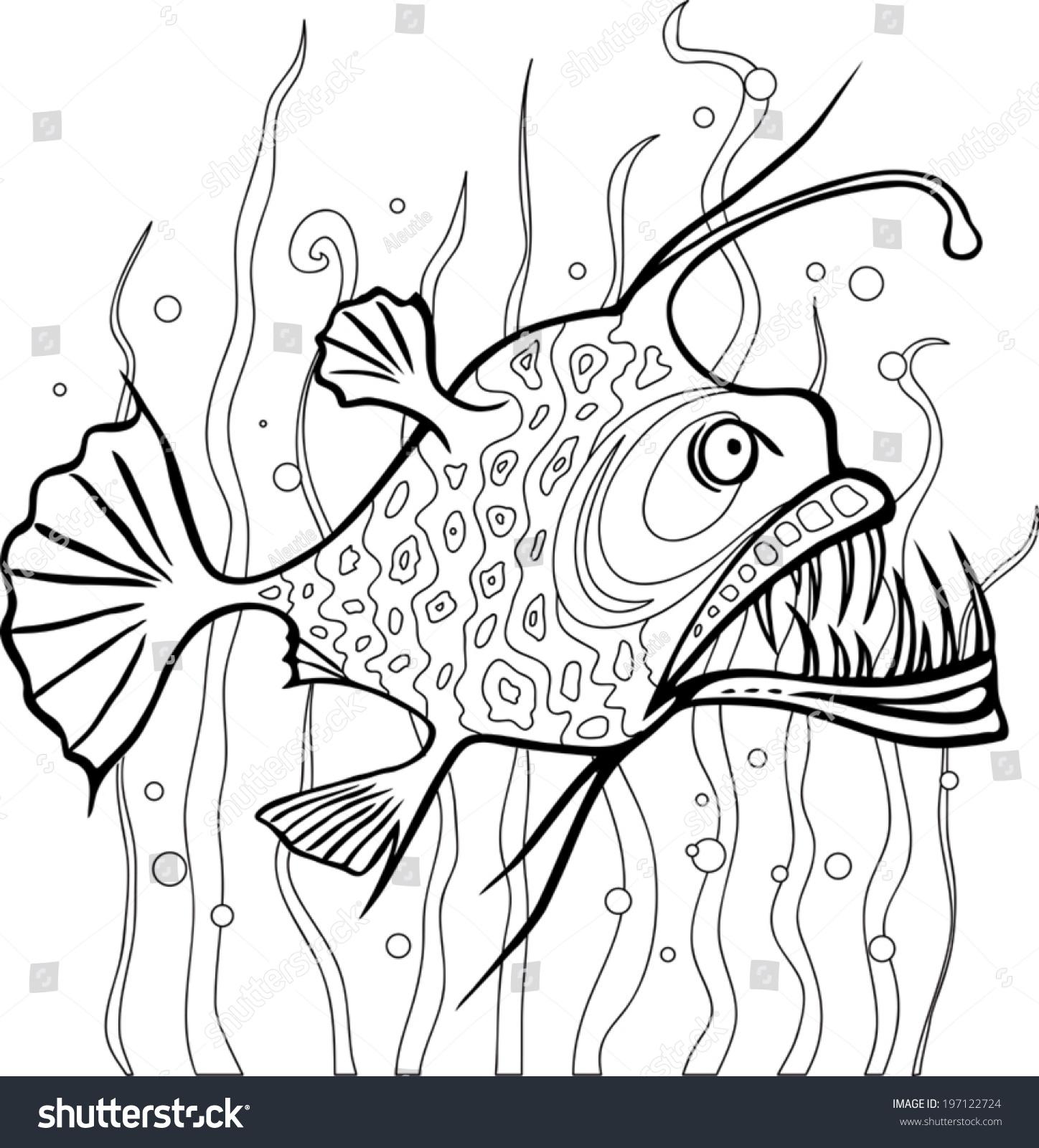 Ausmalbild Angler Zum Ausmalen