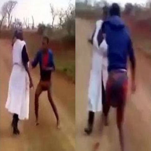 Lady Flogged Her Mother Mercilessly Because Her Pastor Tagged Her Mother A Witch (Video)