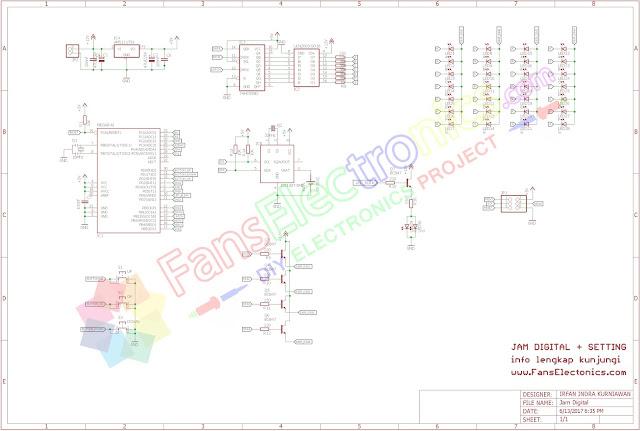 Desain Skematik Jam Digital Fans Electronics