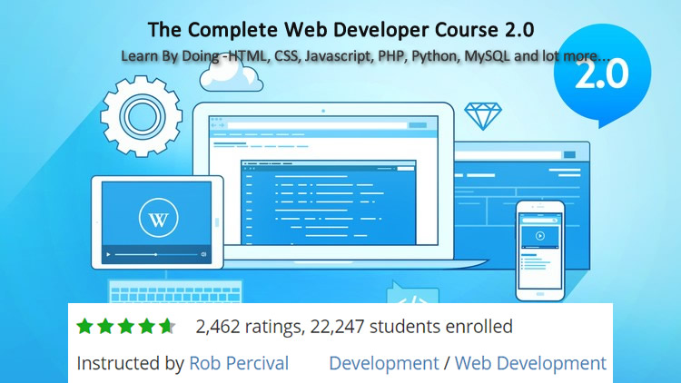 The Complete Web Developer Course 2.0 - Coupon 50% Off - Build 25 Websites and Real Mobile Apps