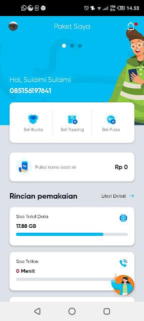 Tampilan Awal Kartu By.u Telkomsel