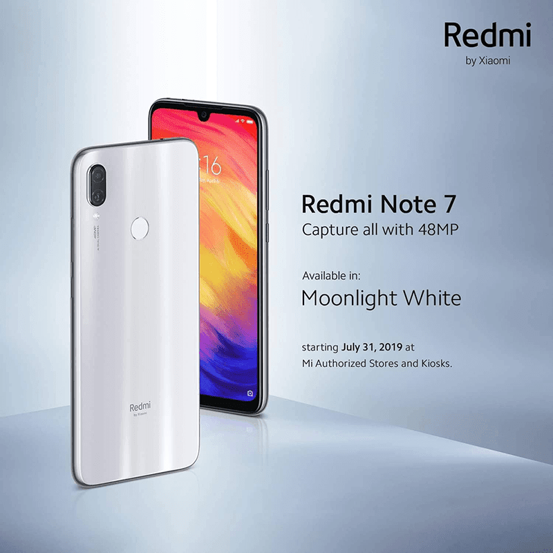 Redmi Note 7 Moonlight White 64GB to arrive in PH for PHP 9,990!