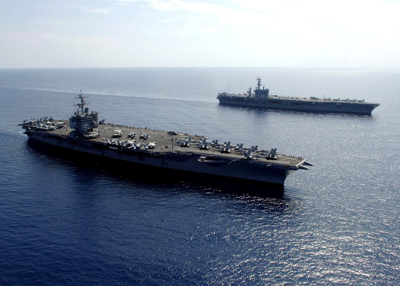 USS Enterprise and Eisenhower