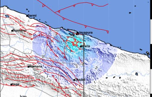 Gempa Dengan Kekuatan M 4.8 Guncang Wilayah Papua