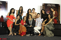Vidya Balan with Ila Arun Gauhar Khan and other girls and star cast at Trailer launch of move Begum Jaan 007.JPG