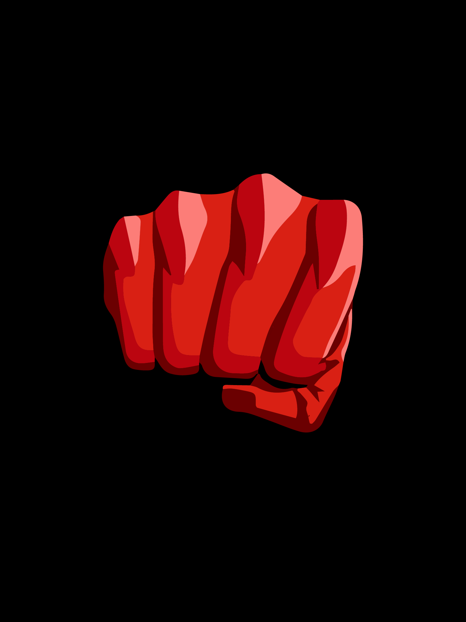 apple.ipad.wallpaper.one.punch.man.fist.in.black.background