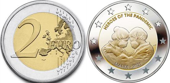 Malta 2 euro 2021 - Heroes of the pandemic