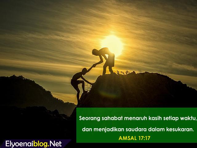 ayat alkitab tentang persahabatan dengan penuh cinta dan kasih