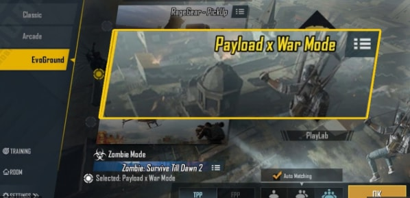 PayloadX war Mode feature