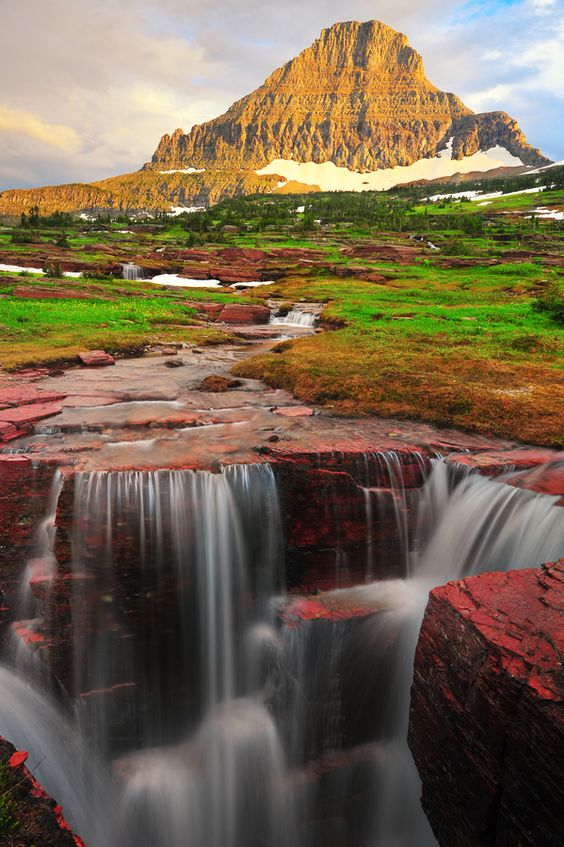 Reynolds Mountain, Glacier National Park, Montana, USA