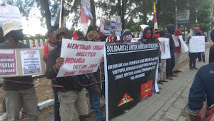 Memperingati 49 Tahun Proklamasi Kemerdekaan Bangsa Papua Barat, AMP dan FRI-WP Unjuk Rasa Didepan Polda NTT