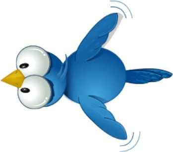 How to add flying twitter bird in my blogger blog