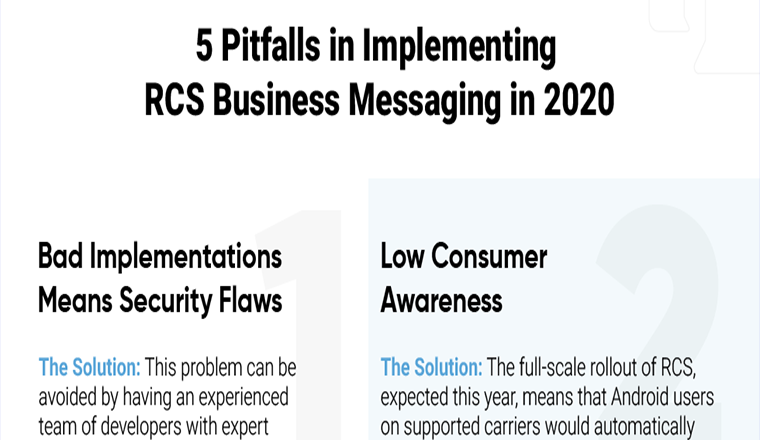 5 Pitfalls in Implementing RCS Business Messaging in 2020