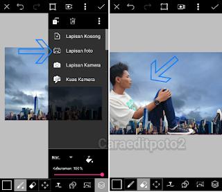 Tutorial picsart edit foto manipulasi raksasa keren