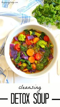 A warming and cleansing detox soup, meant to make you feel good from the inside out!