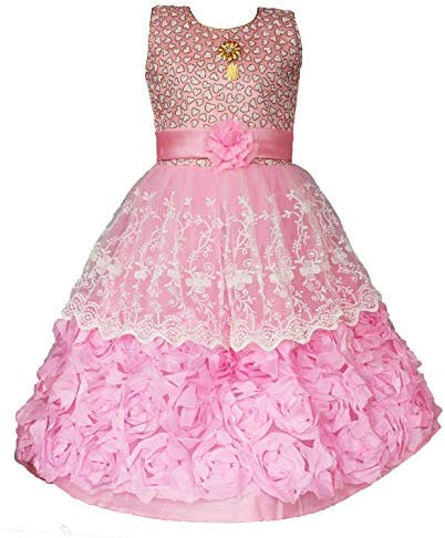 My Lil Princess Baby Girls Birthday Frock Dress_MLP_BOWGLD_3-10 Years