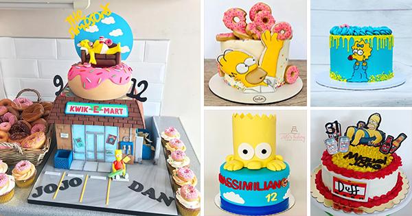 🎂 Tartas de Cumpleaños de los Simpson