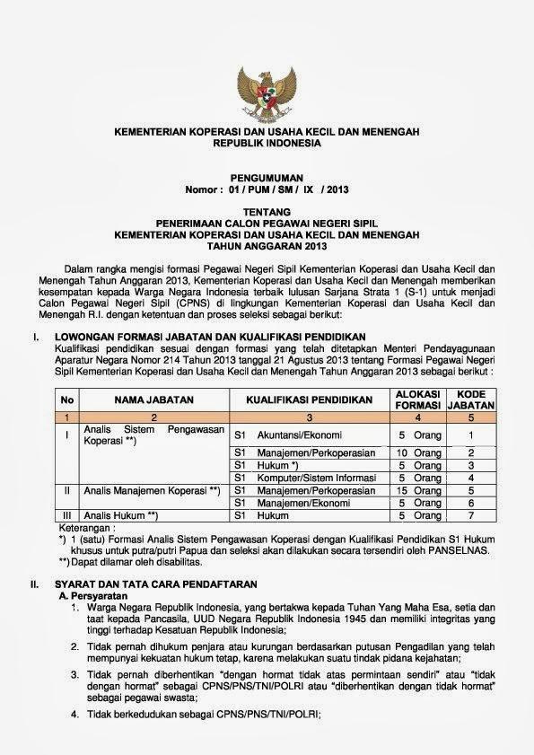 Kementerian Koperasi Dan Ukm Cpns : kementerian, koperasi, Kementerian, Koperasi, Usaha, Kecil, Menengah, Formasi, Bersih