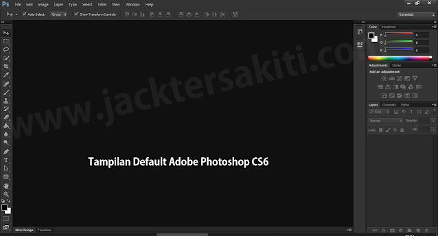 Membuka Aplikasi Adobe Photoshop