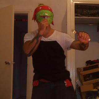 Máscara de papel mache de las tortugas ninja