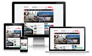 Magpro Responsive News & Magazine Blogger Template Premium