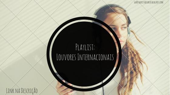 Menina ouvindo louvores internacionais