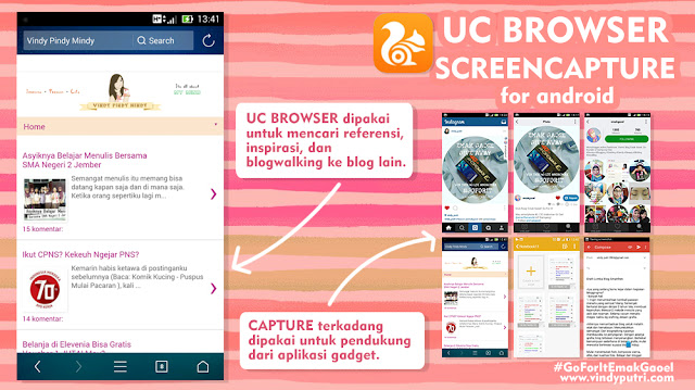 UC Browser dan Screencapture for Android
