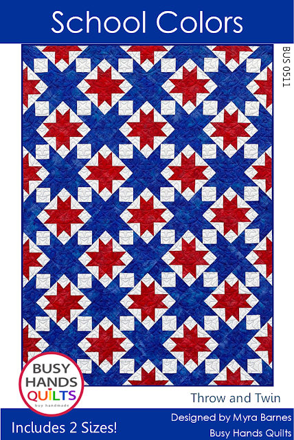 School Colors Quilt Pattern by Myra Barnes of Busy Hands Quilts