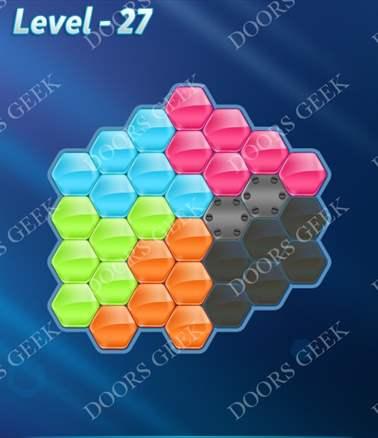 Block! Hexa Puzzle [Intermediate] Level 27 Solution, Cheats, Walkthrough for android, iphone, ipad, ipod