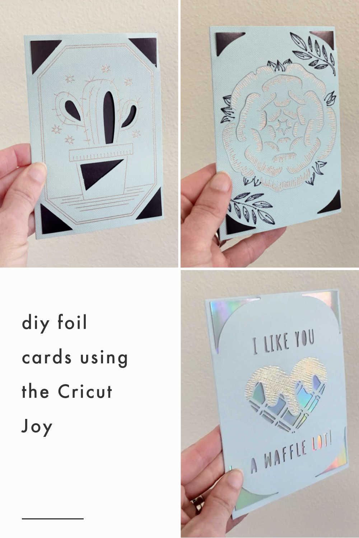 diy foil cards with cricut joy