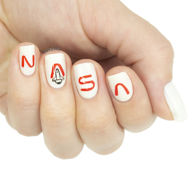 NASA rocket nail art