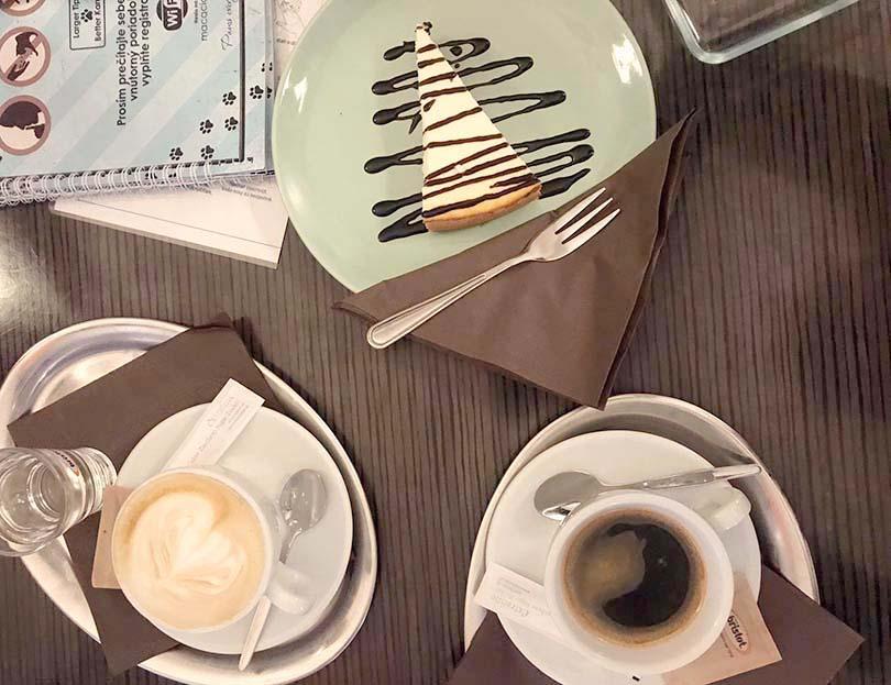 cheesecake, coffee, cat café Bratislava