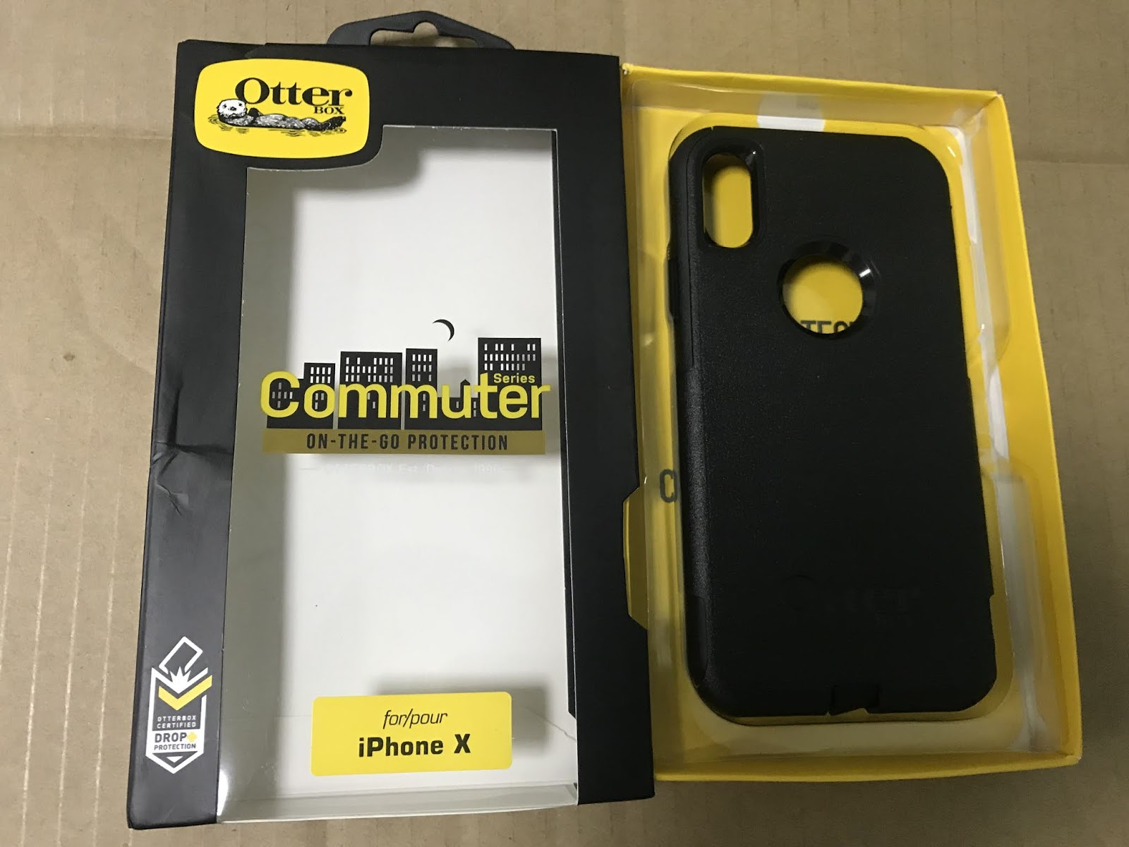 Wholesale Genuine Original Mobile Phone Accessories Hot Selling Otterbox Commuter For Iphone X Black Series
