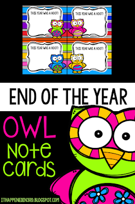 Use these owl themed note cards for a sweet send off to each student.