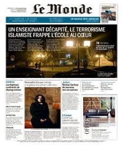 lemonde, le monde magazine 17 or 18 October 2020, le monde magazine, le monde news, free pdf magazine download.