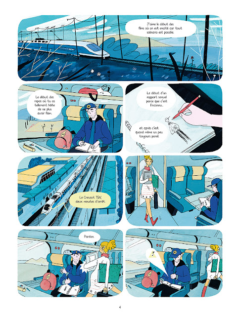 """page de """"L'AGE DE PIERRE"""" de Davy Mourier et Heloise Solt chez delcourt"""