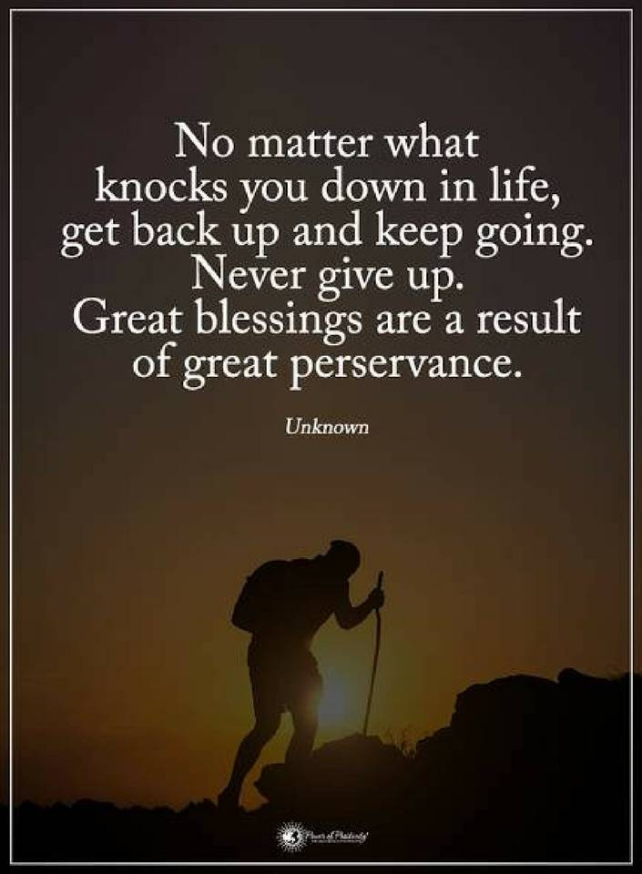 Life Quotes No Matter What Knocks You Down In Life Get Back Up Quotes