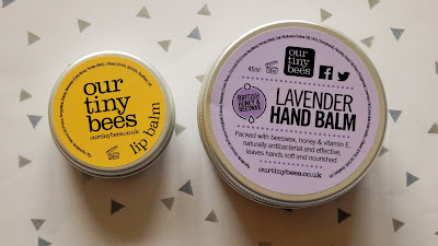 Our Tiny Bees Lip Balm & Lavender Hand Balm Review