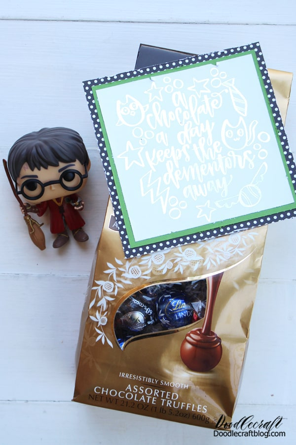 """This cute card is a great decoration too, hang it on the fridge for a reminder of the things that are most important. Don't let the dementors kiss away your last bit of happiness.  """"Eat, you'll feel better."""""""