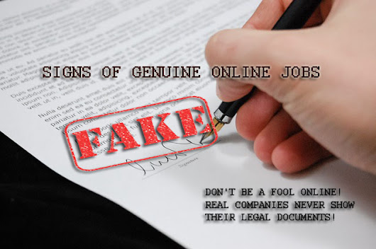 Signs To Be Genuine Online Jobs