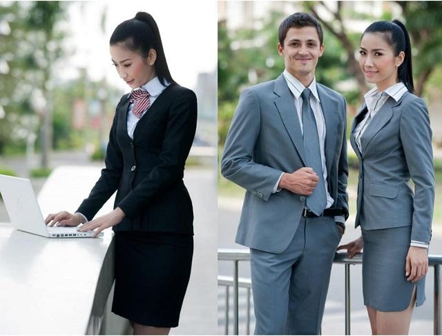 Đồng phục công sở ưu tiên sử dụng các gam màu trầm