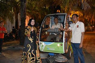 Sampah di Area JFC Disapu Pakai Alat Canggih